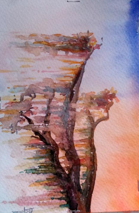 Arbol en Llamas
